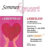 Sommerkonzert 2009 Liebesfreud Liebesleid